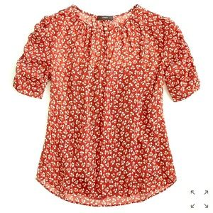J.Crew Top with floral print.